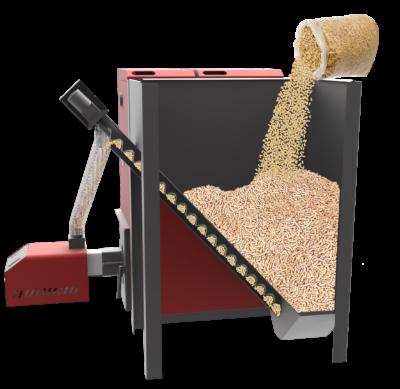 Cazan mixt lemne/peleti 48kw cu arzator de 52kw 4
