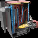 Cazan mixt lemne/peleti 48 kW cu arzator 50kw 19