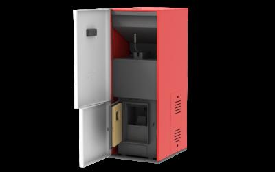 Centrala peleti compacta Mareli Premium RubynoR SBN35 20-35KW -Modul internet si termostat AMB internet 4